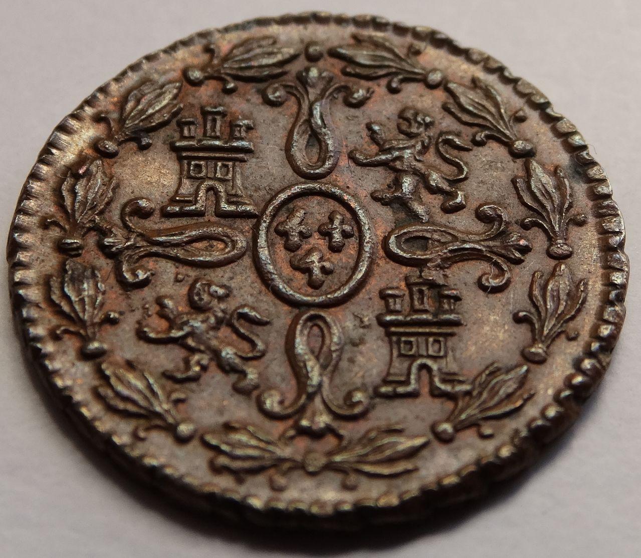 2 maravedís de 1774. Carlos III, Segovia. SC brillo original. DSC03318