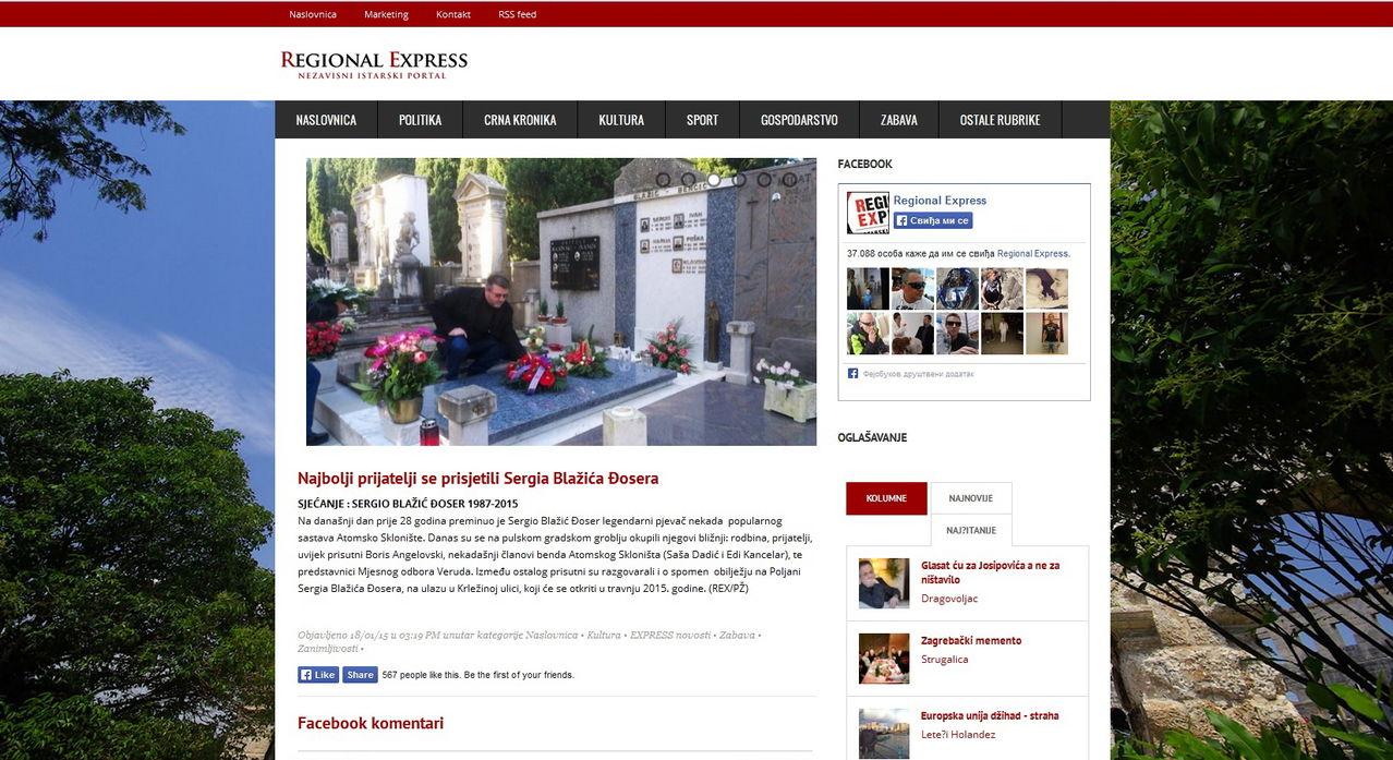 Godišnjica smrti Serđe Blažića Slika