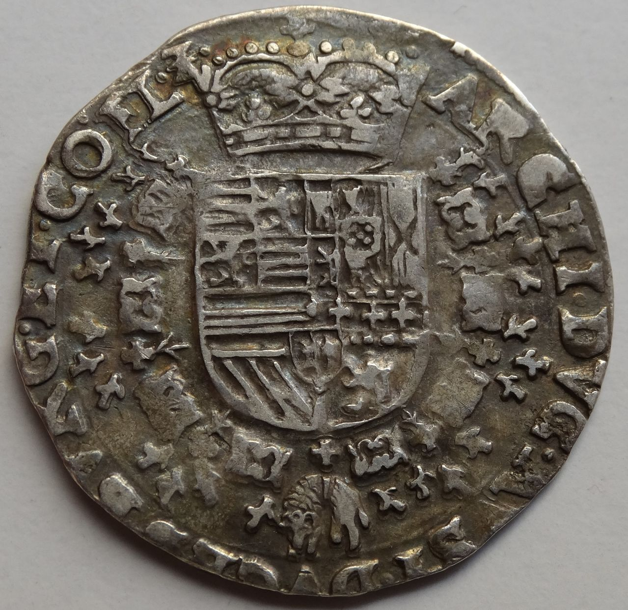 1/4 Patagon s.F (1612/1621) Alberto e Isabel, ceca de Bujas (Flandes) DSC02305