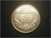 5 francos franceses 1933 BAZOR P9090056