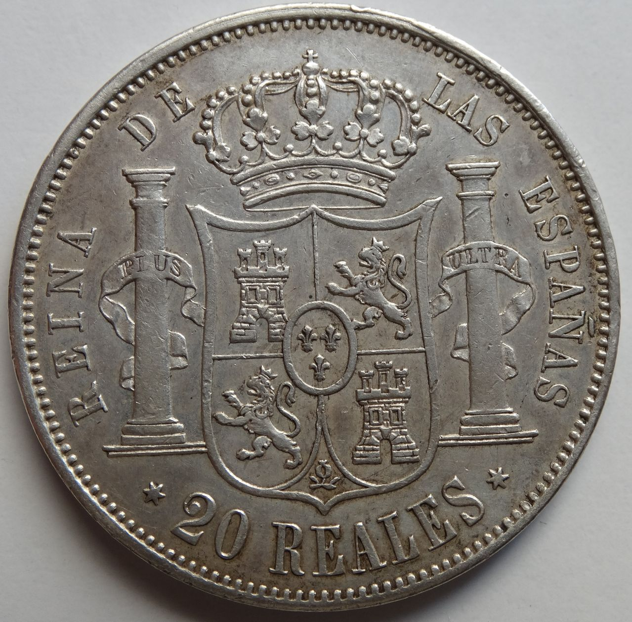 20 REALES ISABEL II 1864 MADRID DSC02290