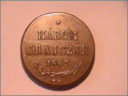 Harom(3) Krajczar 1849 NB Hungria PIC_0358