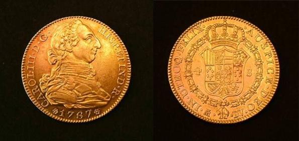 4 escudos 1787. Carlos III. Madrid. Image
