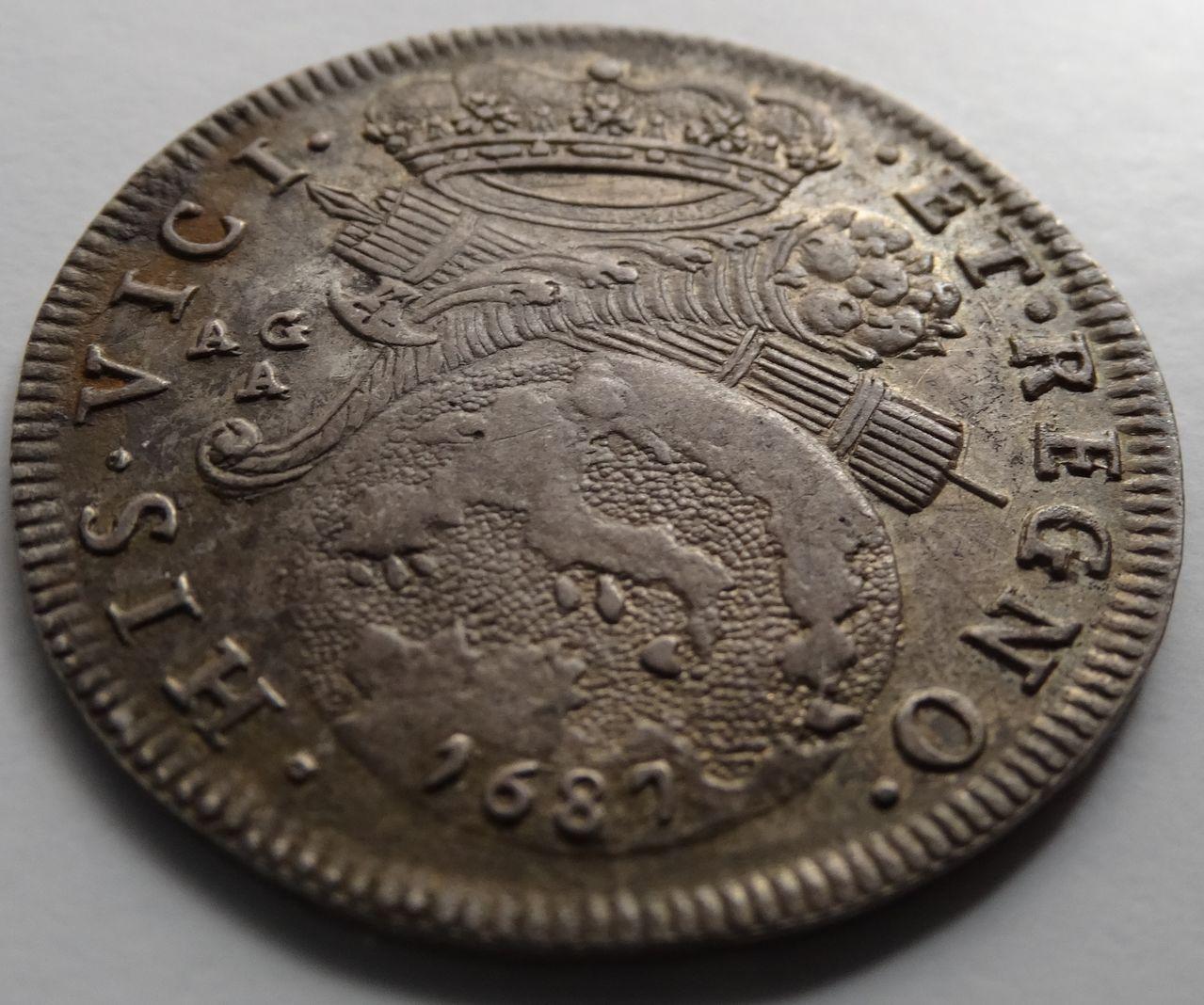 1 tari de 1687. Carlos II, Nápoles DSC03393