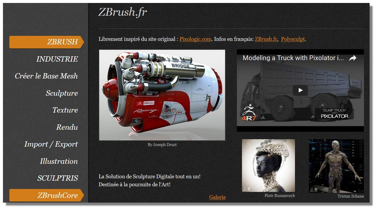 ZBrush pour les Anglophobes! :) Sitezibi