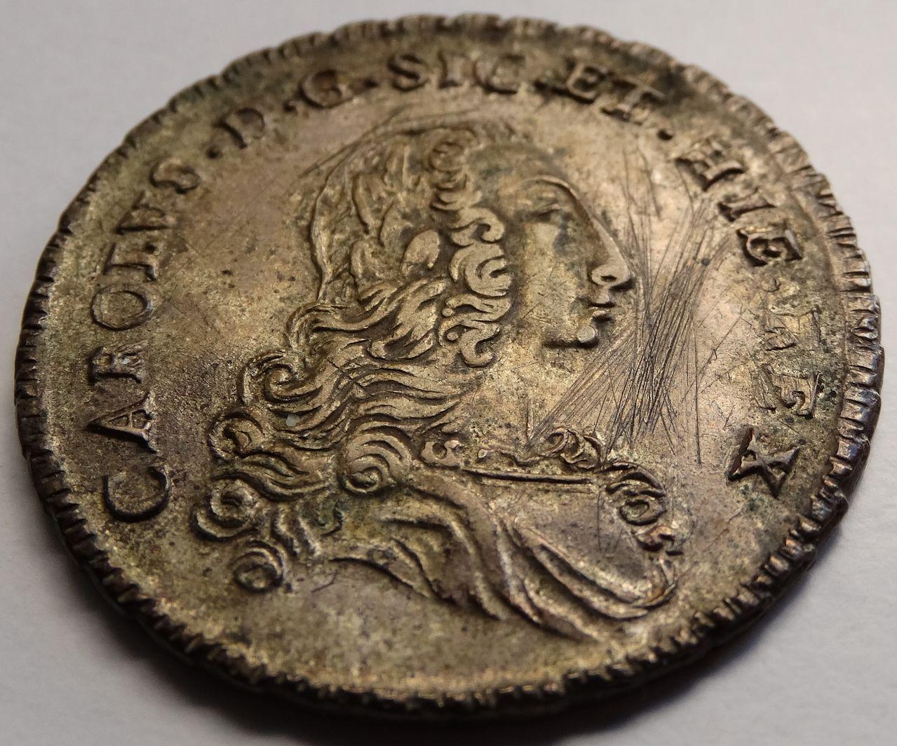 6 tari de 1754. Carlos de Borbón, Palermo DSC03287