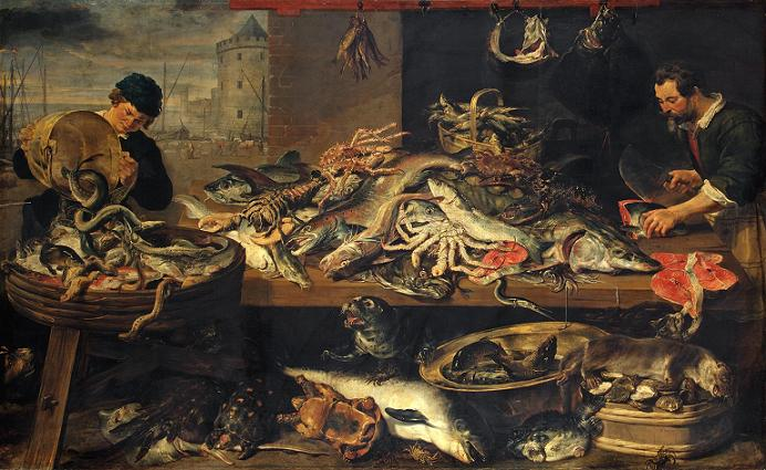 A Taste of History Frans_Snyders_-_Fish_Stall_-_WGA21521