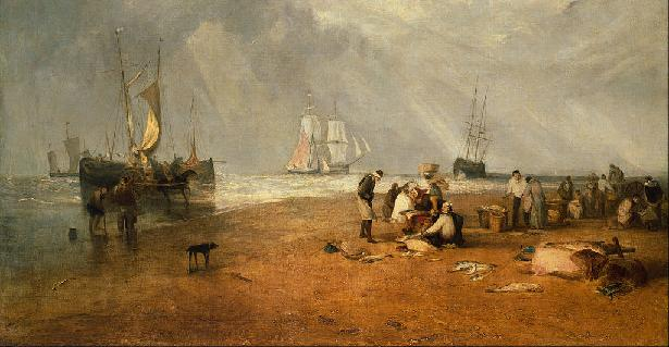 Dish of the Day - Page 8 Turner_-_The_Fish_Market_at_Hastings_Beach_-_Goo
