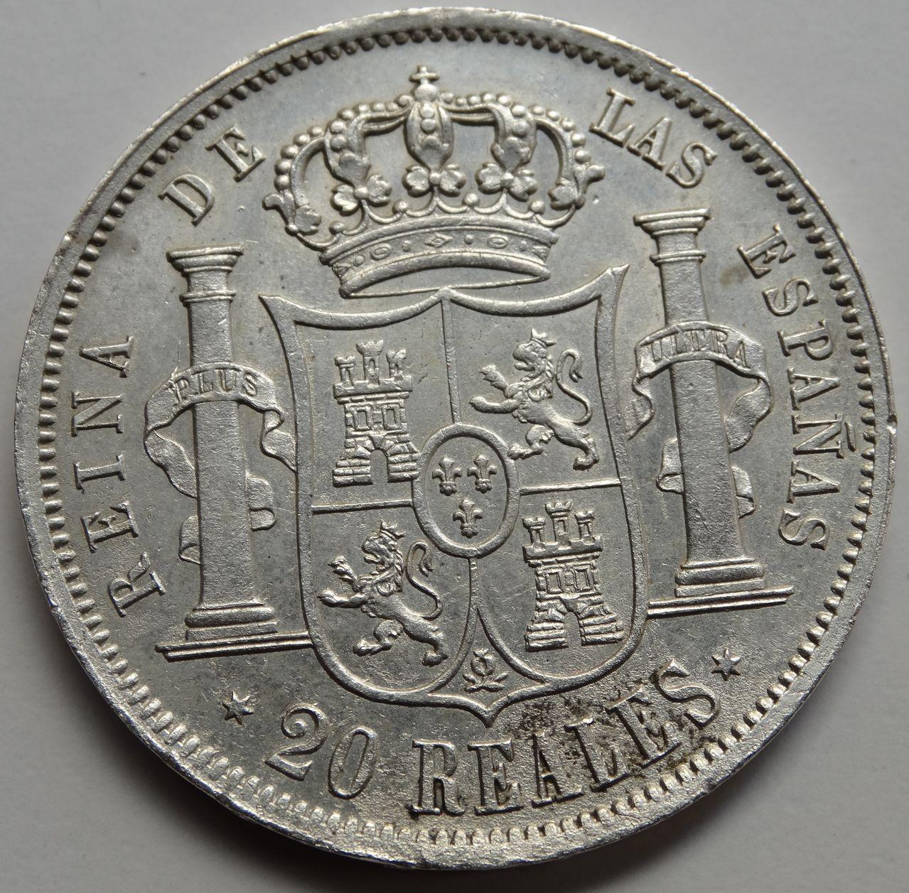 20 REALES ISABEL II 1851 MADRID DSC02600