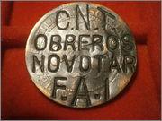 10 centimos 1870. Gobierno Provisional - con resello CNT/FAI PA060153