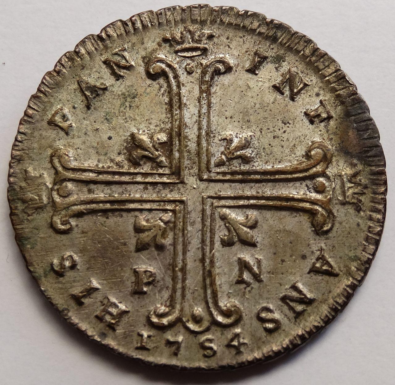 6 tari de 1754. Carlos de Borbón, Palermo DSC03288