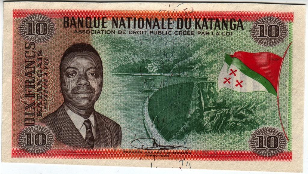 10 Francos Katanga, 1960 (Waterlow) Katanga_P5_Aa