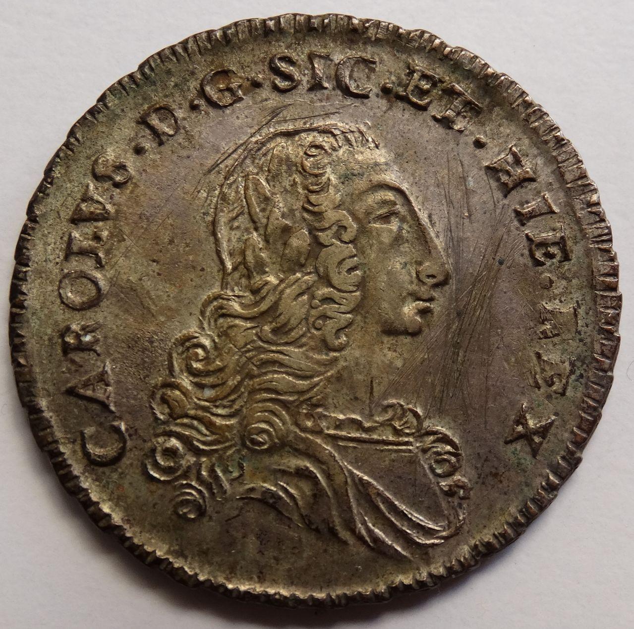 6 tari de 1754. Carlos de Borbón, Palermo DSC03286