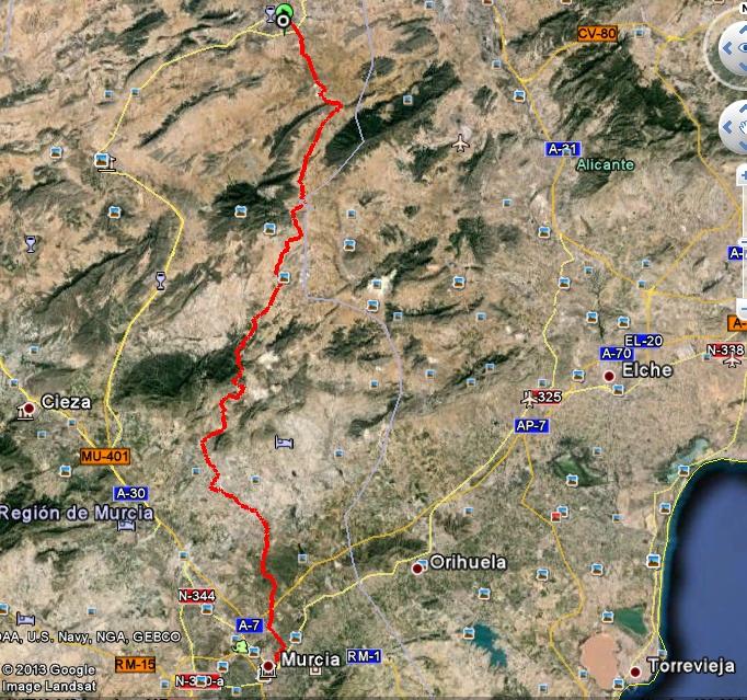 TRASNOMURCIANA  ABRIL'14 Dia3_mapa