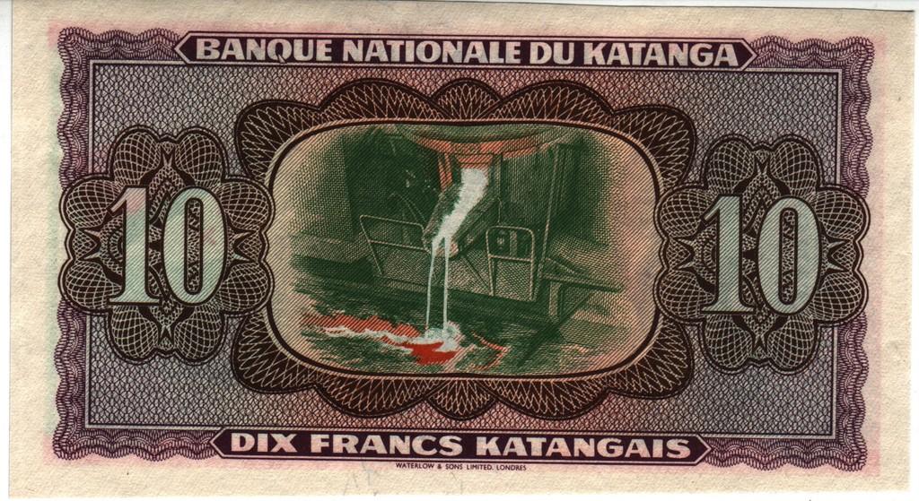 10 Francos Katanga, 1960 (Waterlow) Katanga_P5_Ab