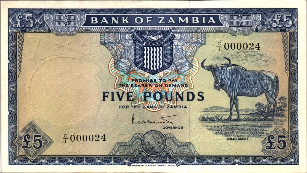 5 Libras Zambia, 1964 (dedicado a RC-menos) Zambia_P3a