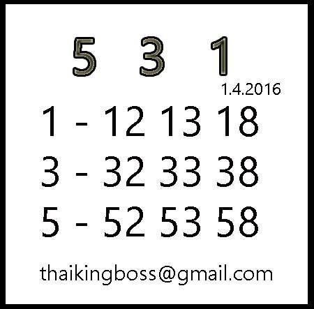 1.4.2016 Thai Boss Thai_king_boss