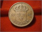 50 Öre - Gustaf V 1939 suecia P9260122