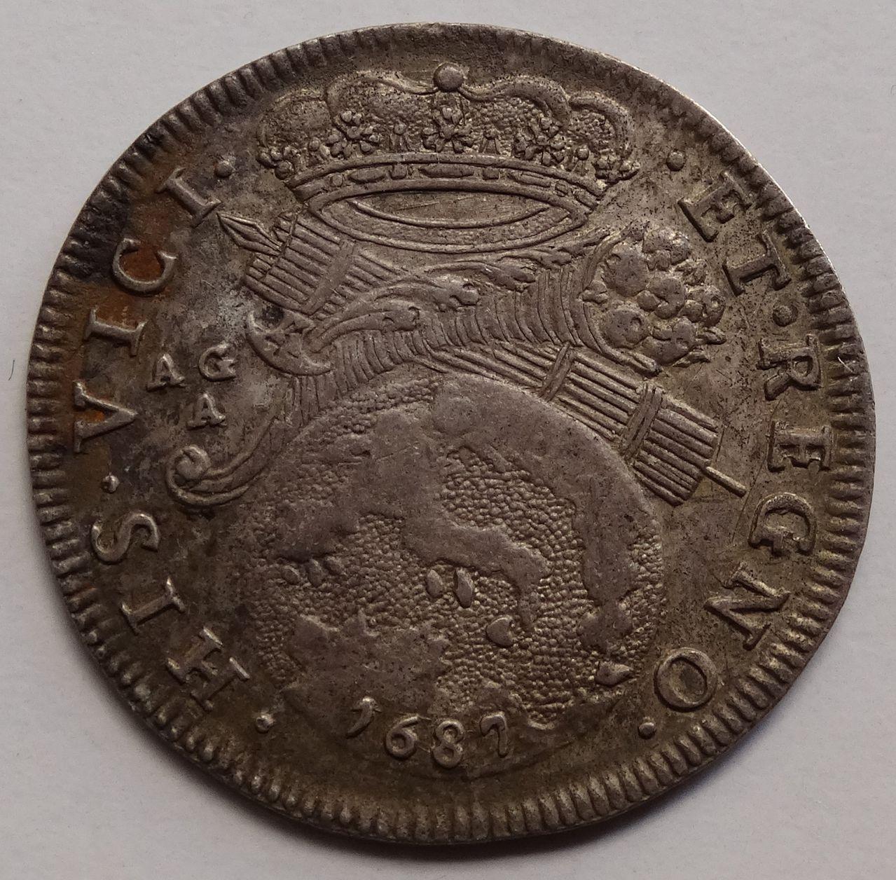 1 tari de 1687. Carlos II, Nápoles DSC03296