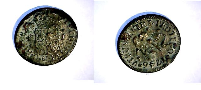 1 maravedí 1746. Fernando VI. Ceca Segovia N_2