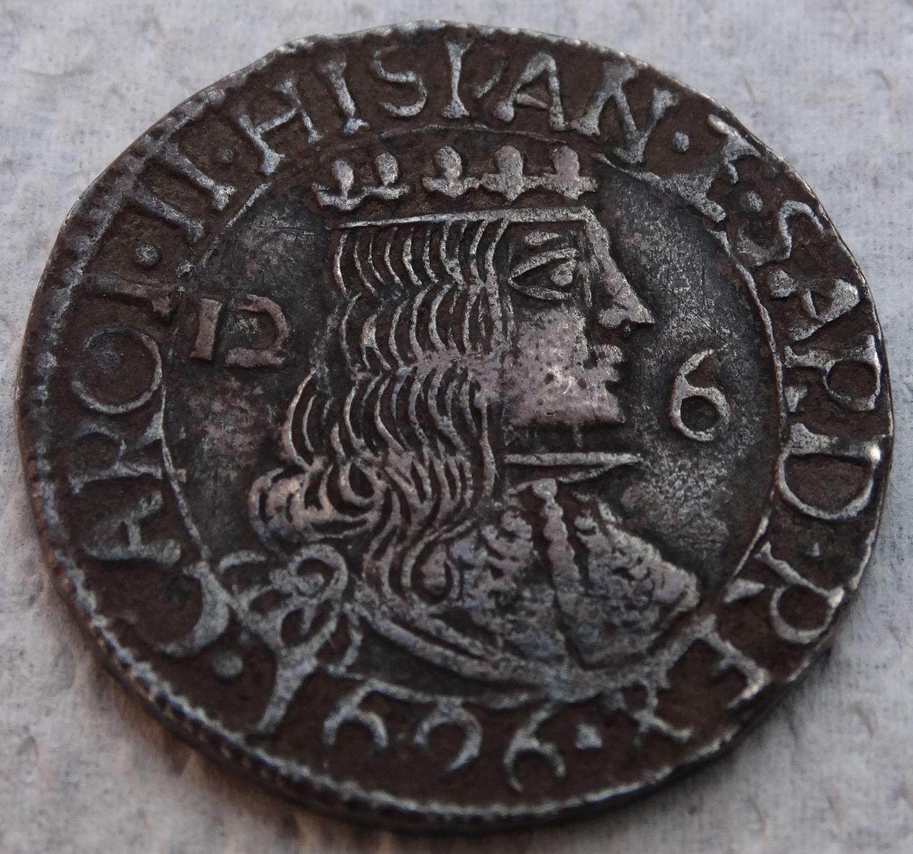 2 ½ reales de Carlos II. Cagliari DSC04381
