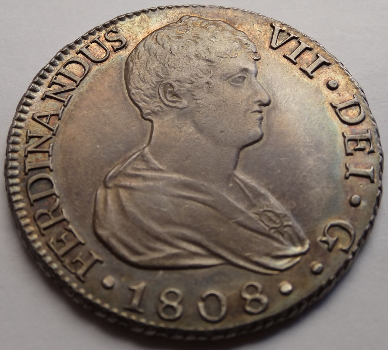 8 REALES FERNANDO VII 1808 SEVILLA BUSTO DESNUDO DSC03641