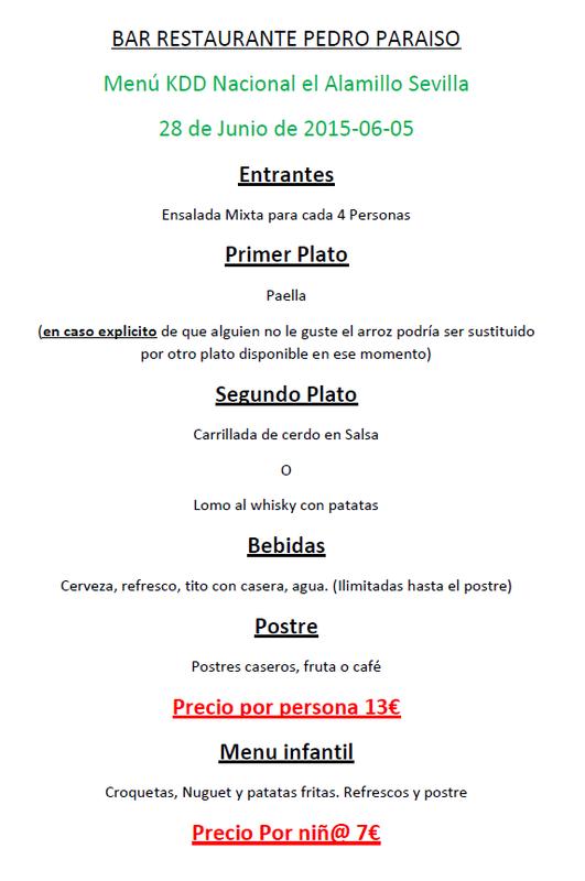 III KDD NACIONAL EL ALAMILLO - SEVILLA 28-6-2015 Dibujo