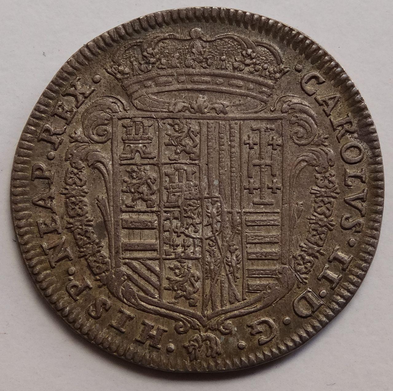1 tari de 1687. Carlos II, Nápoles DSC03299