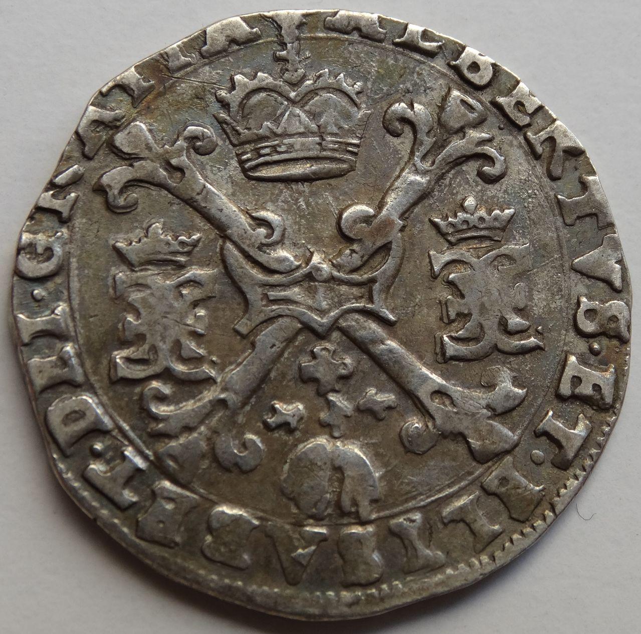 1/4 Patagon s.F (1612/1621) Alberto e Isabel, ceca de Bujas (Flandes) DSC02303