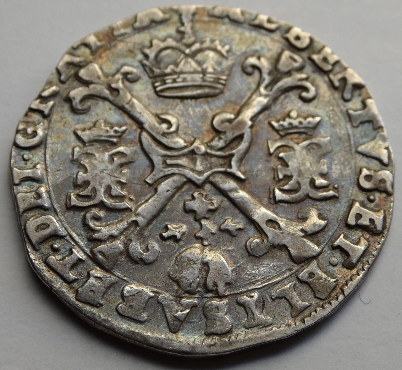 1/4 Patagon s.F (1612/1621) Alberto e Isabel, ceca de Bujas (Flandes) DSC02301