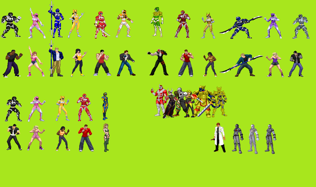Mighty Morphin Wars:The Game(Rated M) openbor project