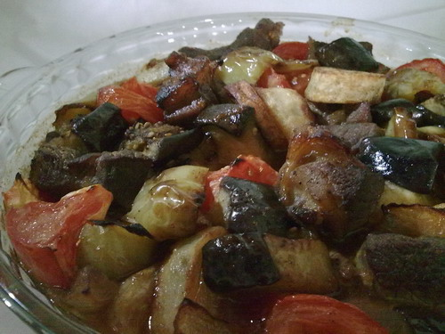 Саниет худар ма ляхма. Запеченые овощи с мясом. Арабская кухня 3ce737c6acb4