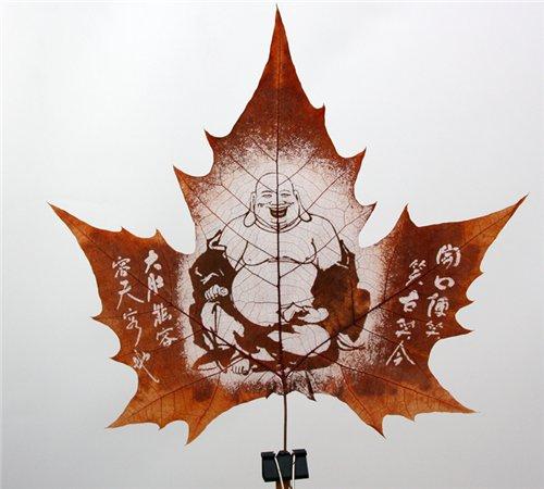 Креатив на кленовых листьях A76d812a9267