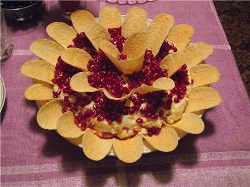 """Салат """"Гранатовый цветок"""" 0cbefab7040a"""
