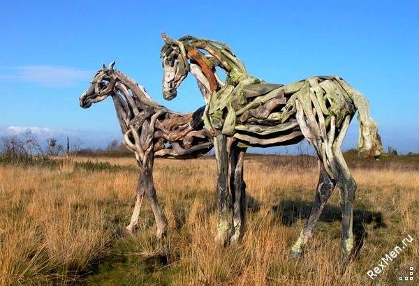 Потрясающие деревянные лошади Ed06e8f50c10