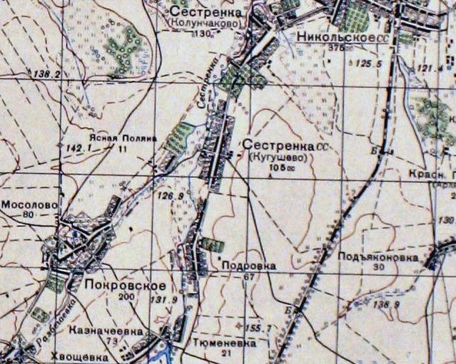 Лавровские Подворки на картах 8ad0c8618638