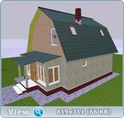 Проект часного дома с мансардой  29034e0efd62