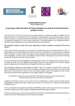 La correspondance de Marie-Antoinette et Fersen : lettres, lettres chiffrées et mots raturés - Page 24 25421079_1440228