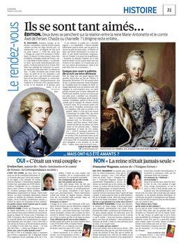 farr - Marie-Antoinette et le comte de Fersen, la correspondance secrète, d'Evelyn Farr - Page 2 26519592_2016_04_02_le_parisien