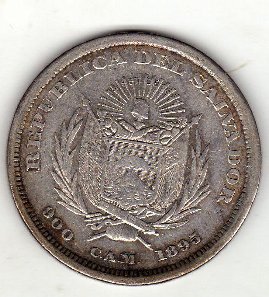 el salvador cam - 1 Peso. El Salvador. 1895. San Salvador Reverso