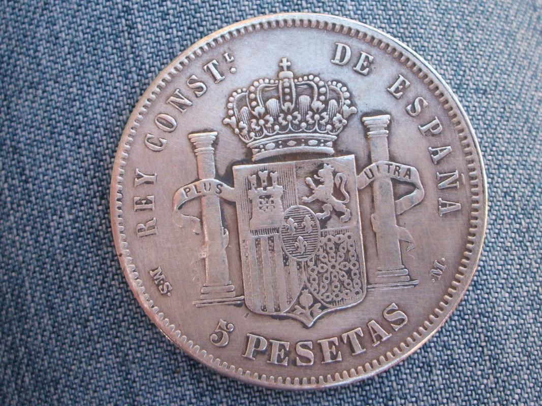 5 pesetas 1881 - 5 Pesetas 1881. MSM. Alfonso XII (2). Falsa. 011