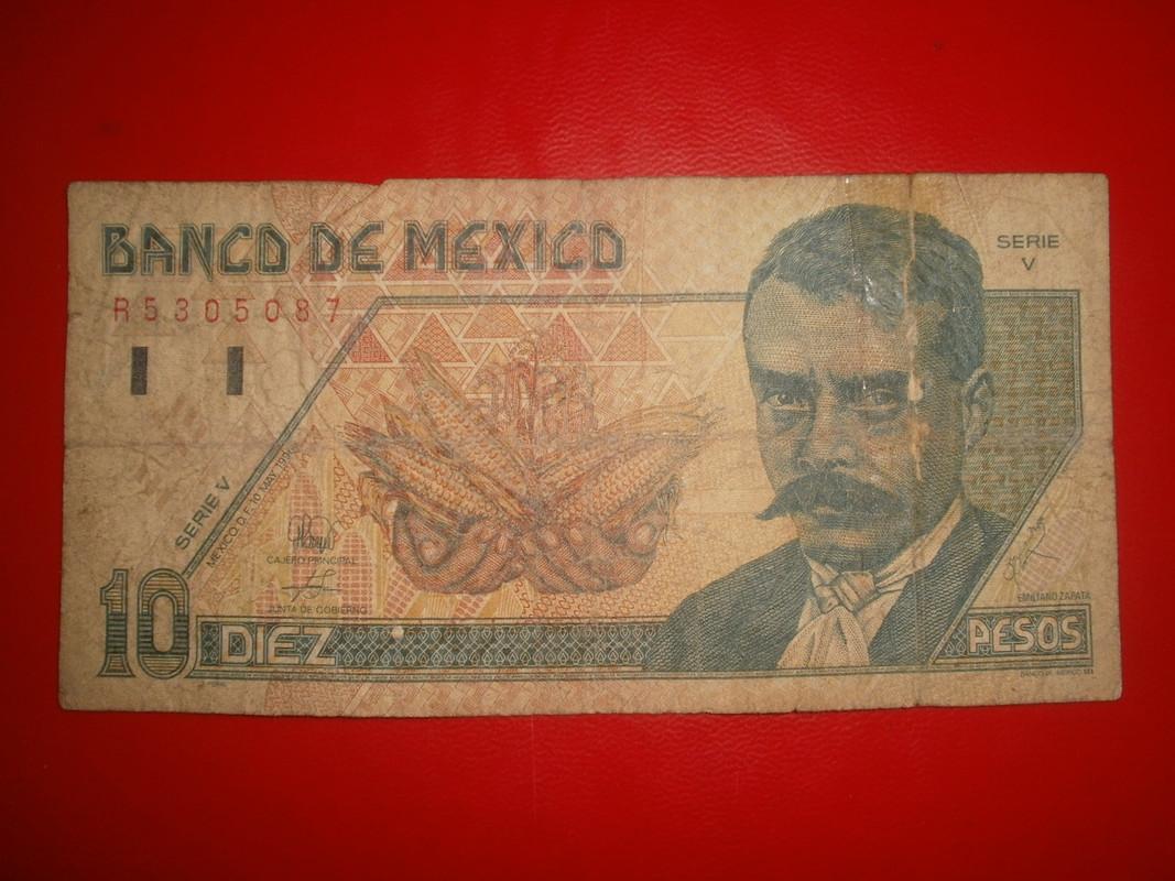10 pesos mexico billete de 1966 zapata P7280001