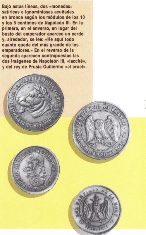 Post II: Medalla Satírica Napoleón III. Fin del II Imperio Francés. Sedán 1870. Sati
