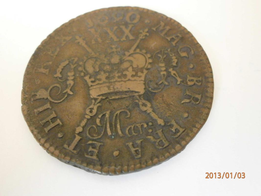 ½ Crown. Irlanda. 1690 P1030002