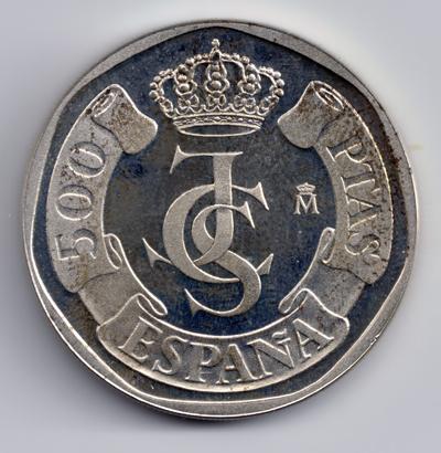 PRUEBA 500 Pts Plata 1987 500_pesetas_reverso_prueba_Ag_1987_anv