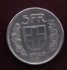 5 Francs. Suiza. 1965. Berna 3_3