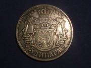 5 DINARES 1904 SERBIA P3183590