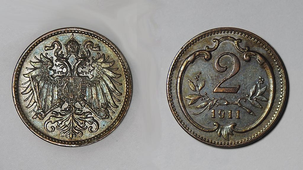 2 heller. Imperio Austro-Hungaro. 1911   2_haller_austria_combinado_red