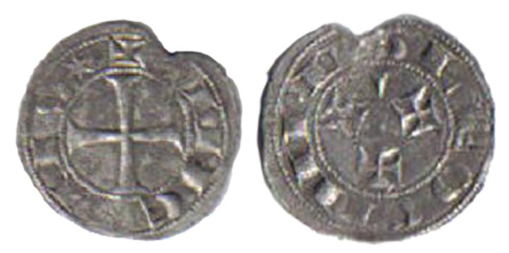 Dinero de Sancho III en subasta Herrero. Extraña marca. 85_5