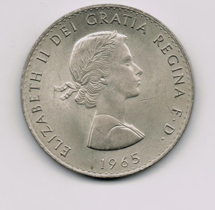 Moneda conmemorativa Winston Churchill y Elizabeth II Moneda
